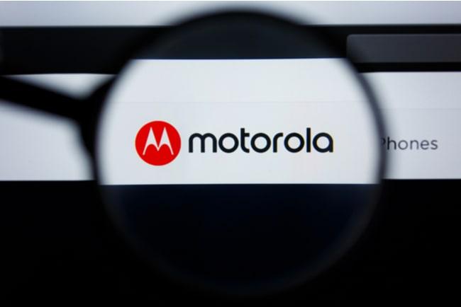 motorolas logga på dataskärm