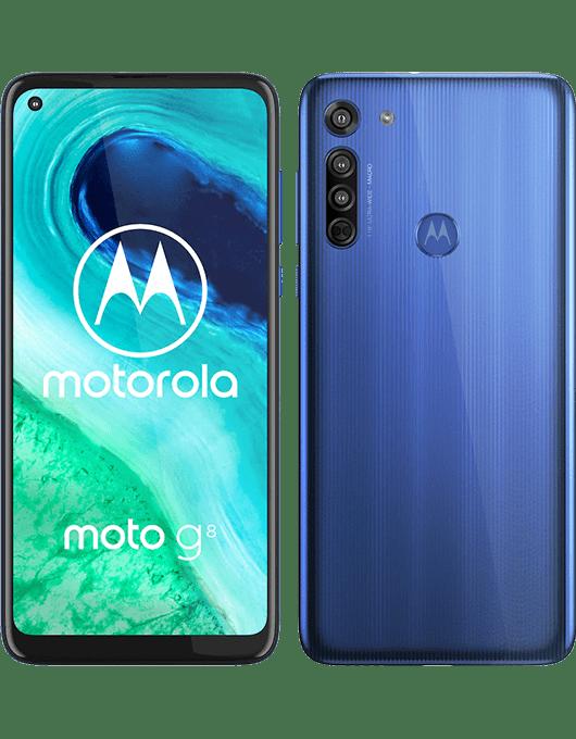 Motorola Moto G8 Neonblå