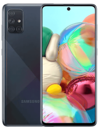 Samsung Galaxy A71 Svart